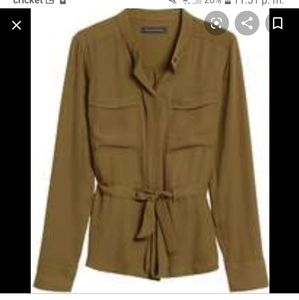 Utility Blouse  (OLIVE GREEN )